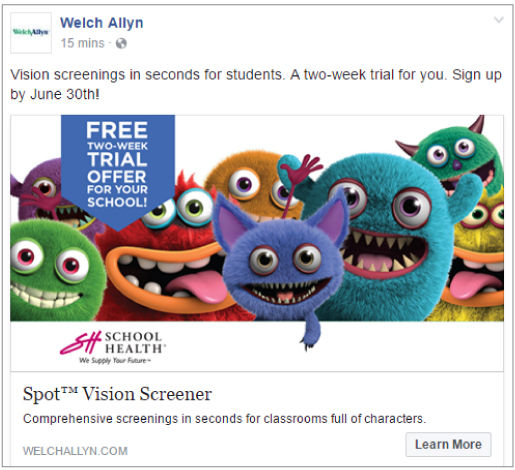 Welch Allyn Spot Vision Campaign - Social