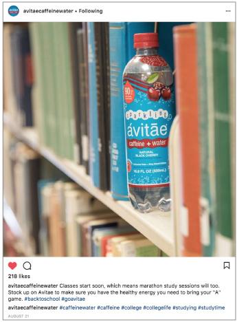Avitae Caffeinated Water - Social