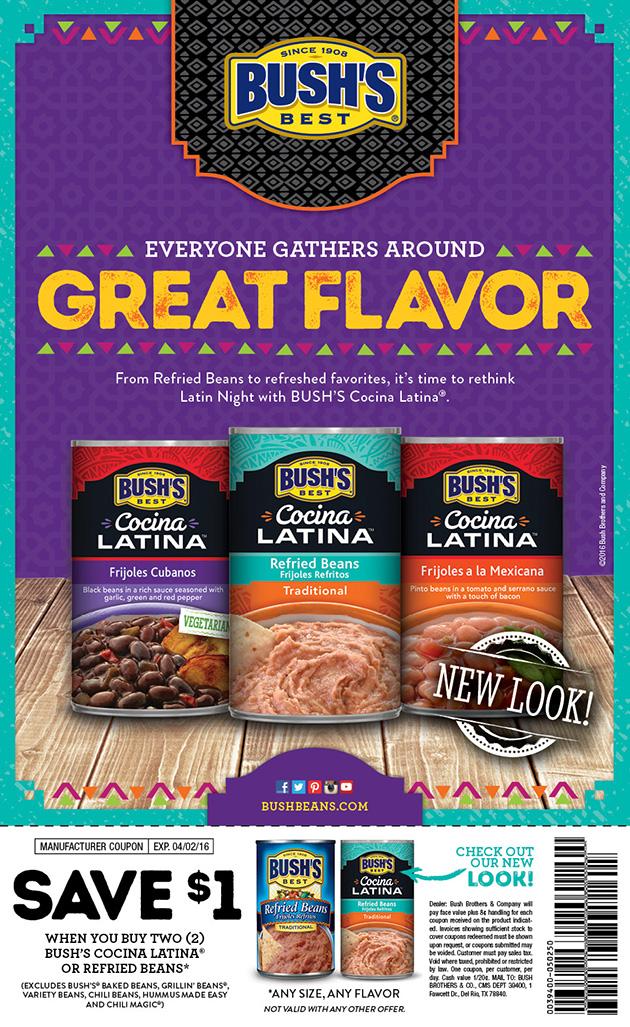 BUSH'S Cocina Latina Product Launch - National FSI