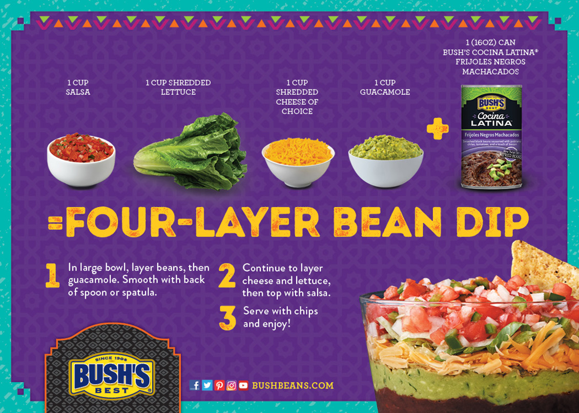 BUSH'S Cocina Latina Product Launch - Recipe Card
