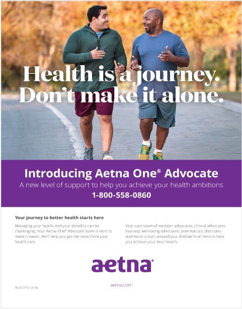 Aetna - One Advocate Launch - Print Ads