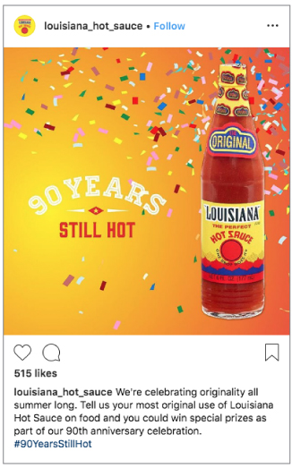 Southeastern Mills – Louisiana Hot Sauce Social Media - 90th Anniversary
