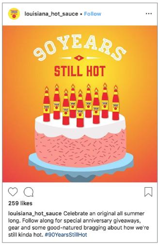 Southeastern Mills – Louisiana Hot Sauce Social Media - 90th Anniversary
